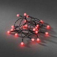Lichtketting met batterijen Binnen werkt op batterijen 50 LED Rood Verlichte lengte: 3.92 m Konstsmide 1492-557