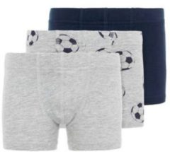 Grijze NAME IT KIDS NMMTIGHTS 3P GREY MEL FOOTBALL NOOS Jongens Onderbroek - Maat 98