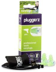 Groene Pluggerz earplugs Pro