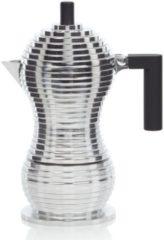 Zilveren Alessi Pulcina Espresso 3 Cup Coffee Maker