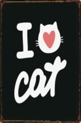 Witte Th Commerce® Kattenliefde - ik hou van katten - i love cats - cat - poes - dier-Th Commerce 9154