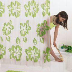 Verde RIDDER Tenda da Doccia Flowerpower PEVA 180x200 cm 32355
