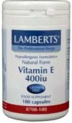 Lamberts Natuurlijke Vitamine E 400 IE 180 capsules