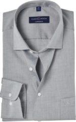 Casa Moda Overhemd Zilver Grijs Effen Poplin Kent ML7 Comfort Fit - 46