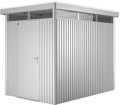 Afbeelding van Zilveren Biohort Highline H2 zilver metallic 1 deurs - 275 x 195 x 222 cm