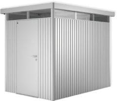Zilveren Biohort Highline H2 zilver metallic 1 deurs - 275 x 195 x 222 cm