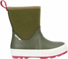 Donkergroene Winter-grip Snowboots Jr - Neo Welly - Legergroen/Rood - 29