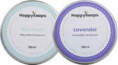 SET HappySoaps Deodorant NEUTRAAL & LAVENDEL Natuurlijk, Vegan en Handgemaakt