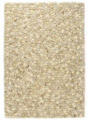 VidaXL Tapijt kiezel 140x200 cm wolvilt beige/grijs/bruin/chocolade