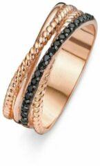 Roze Velini jewels -R6220BLW-64 -Ring -925 Zilver rosé -Gekleurde Cubic Zirkonia