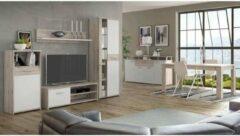 Andere GULADA tv-meubel - dressoir - eettafel - hedendaags - decor in wit en eiken