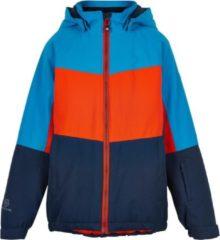 Color Kids Wintersportjas - Maat 122 - Unisex - lichtblauw/rood/blauw