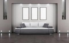Baidani Designer Sofa m. Schlaffunktion Dargle I - helllgrau/grau