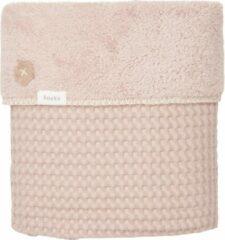 Roze Koeka Eenpersoonsdeken wafel/teddy Oslo - grey pink/grey pink 140x200cm
