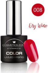 Rode Cosmetics Zone UV/LED Hybrid Gel Nagellak 7ml. Dry Wine 008