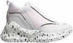 Ewoll Dames Sneaker met hoge zool - wit /zwart - Maat 37