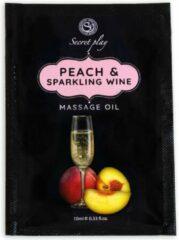 Secret Play SACHET Peach and Sparkling Wine Massage Oil