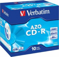 CD-R Verbatim 700MB 10pcs Pack 52x JewelCase crystal retail
