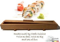 Chefs Cuisine - Sushimaker - Sushimaker XXL - sushimaker set - double sushimaker - sushi set - sushi kit - sushi - sushi maken incl. 4 Chopsticks & Sauspotje