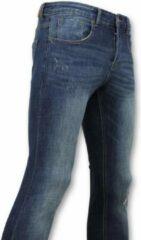 True Rise Skinny Basic Jeans - Man Spijkerbroek Washed - D3021 - Blauw Jeans Slim fit Jeans Maat W34