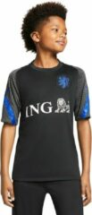 Zwarte Nike KNVB Breathe Strike Short-Sleeve Football Top Junior