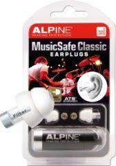 Witte Alpine Hearing protection Alpine MusicSafe Classic - Muzikanten oordoppen - Verwisselbare filters - 1 paar