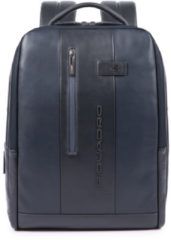 Blauwe Piquadro Urban PC and iPad backpack with anti-theft cable blue backpack
