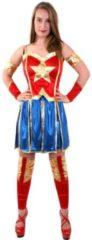 Rode PartyXplosion Wonderwoman Kostuum | Miss America Superheldin | Vrouw | Maat 34-36 | Carnaval kostuum | Verkleedkleding