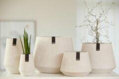 OOhh duurzame paper pot - Tokyo grijs S - Set van 2