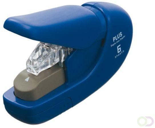 Afbeelding van Nietmachine Plus nieten zonder nietjes blauw