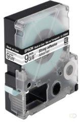 Epson sterk hechtende tape breedte 9 mm, zwart/transparant