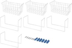 WPRO Fleximode - Korb fur Gefrierschrank. Passt in Gefrierschränke von 390Lt. Gefrierschrank 484000000968, Flm400 für Gefrierschrank 484000000968, FLM400