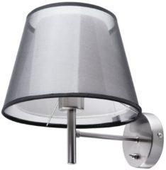 Grijze Beliani Columbia Wandlamp Metaal 18 X 16 Cm