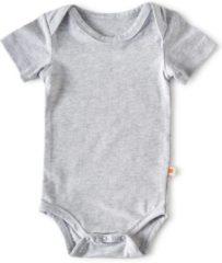 Little Label - baby - rompertje korte mouw - grijs - maat 56 - bio-katoen