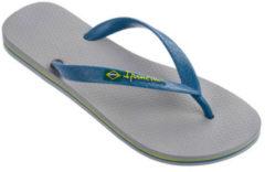 Grijze Ipanema Classic Brasil Slippers - Maat 39/40 - Unisex - grijs/blauw/geel