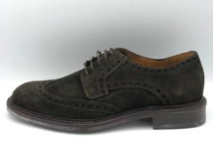 Donkerbruine Gant Pittsfield Dark Brown Suede - Maat 42