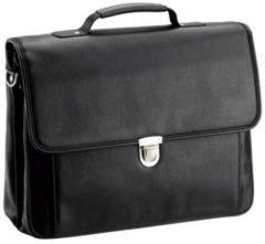 Basic Aktentasche I Leder 40 cm Laptopfach D&N schwarz