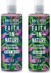 Faith in nature lavender en geranium shampoo en body wash