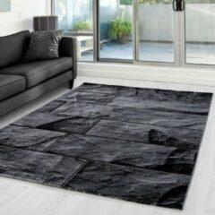 Ayyildiz Parma Design Vloerkleed Zwart / Grijs Laagpolig - 80x150 CM