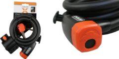 Xolid Kabelslot - Compact Fietsslot uit Stevige Staalkabel met 2x Sleutel en Frame Houder - Gebruik Slot met Fiets - Alternatief voor Ketting Ringslot Cijferslot Vouwslot Beugelslot - (Extra) Lang 180CM Dikte 12MM - Zwart Oranje