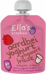 6x Ella's kitchen Yoghurt Griekse Stijl 6+ m Aardbei 90 gr