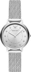 Emporio Armani AR11128 Horloge Kappa Mesh zilverkleurig 32 mm