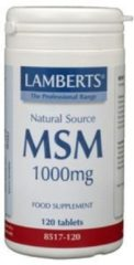 Lamberts MSM 1000 mg - 120 tabletten
