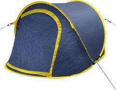 Marineblauwe VidaXL Pop-up tent 2 personen marineblauw / geel