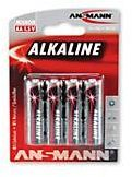 ANSMANN 5015563 Batterie RED Mignon LR6 Alkaline, 1,5 V, MN1500 (1 Stück)