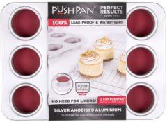 Wham Cook Wham PushPan Muffinvorm - Aluminium - Rechthoekig - 12 stuks