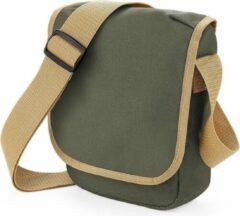 Bagbase Reporter tasje olijfgroen 23 x 17 cm - Mini schoudertas voor onderweg - Schoudertasje voor volwassenen