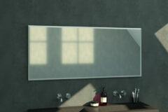 Douche Concurrent Badkamerspiegel Silhouette 160x70x2.5cm Geborsteld Aluminium Lijst