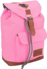 Vintage rugzak/rugtas roze 29 cm voor kinderen - Schooltas/lunchtas - Kinderrugzak roze
