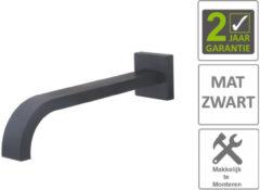 "Boss & Wessing BWS Inbouwuitloop Vierkant 26cm 1/2"" Mat Zwart"